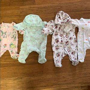 Newborn footed pajamas